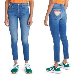 MOTHER Super Stunner High Waist Ankle Skinny Jeans